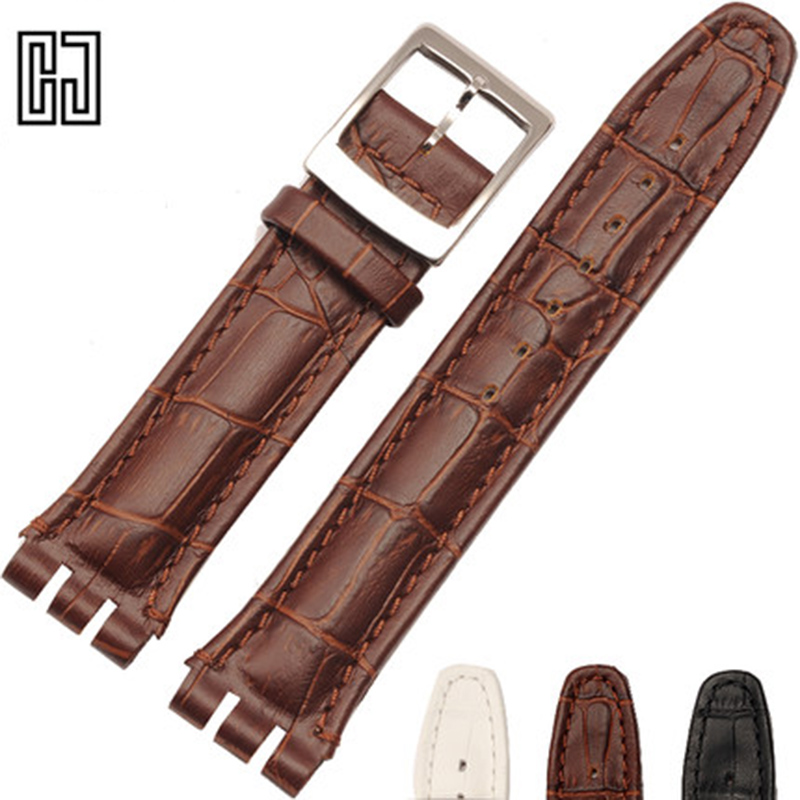 New Italian Leather Watch Band For Swatch Watches Strap Wrist Band 17 19 21 23 mm Watchband Straps Clafskin Men Women Watchband swatch mire noire mens watch yws411g