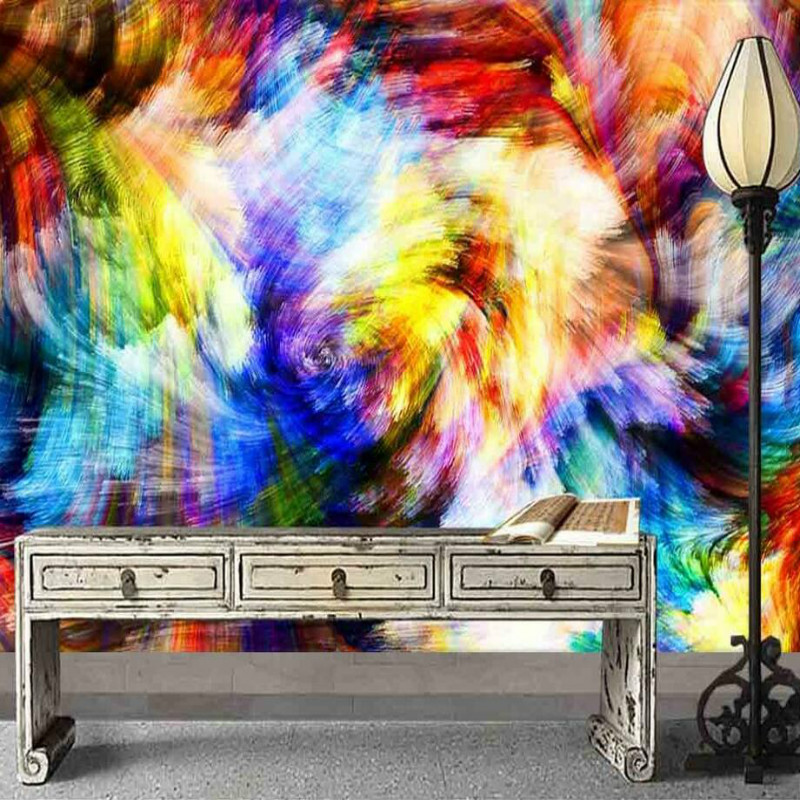 Modern Colorful watercolor abstract wallpapers 3d wall paper decorative painting wallpaper for wall home improvement