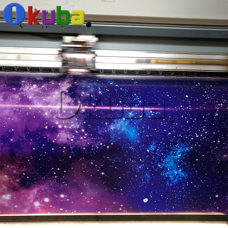 Glossy Galaxy Vinyl Car Wrap Starry Sky Graffiti Printed Stckerbomb Air Bubble Free PVC Full Car BODY Decal Bomb Stickers