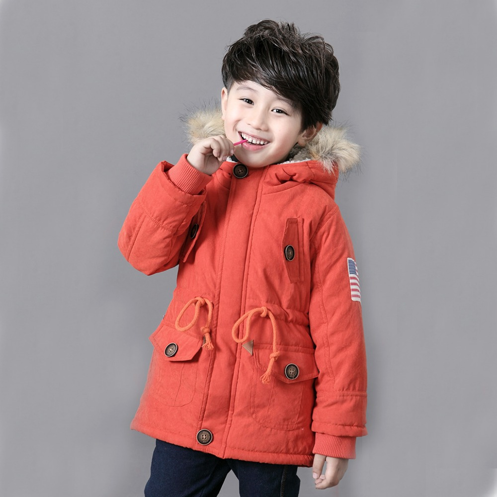 Children Jackets Winter Warm Cotton Coat Padded Boys Fur ...