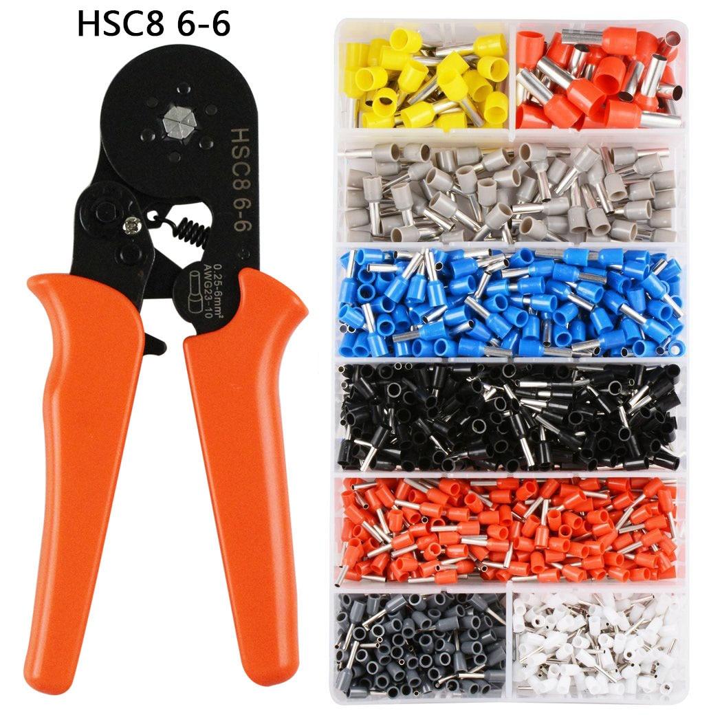 Werkzeuge Crimpen Terminals Sets Awg24-10 Draht Kabel Rohr Terminals Crimpen Zangen Multi Hand Werkzeuge Zangen Analytisch Selbst-einstellbar Crimpen Zange