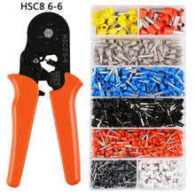 Self-Adjustable Crimping Plier + Crimping Terminals Sets AWG24-10 Wire Cable Tube Terminals Crimping Pliers Multi Hand Tools