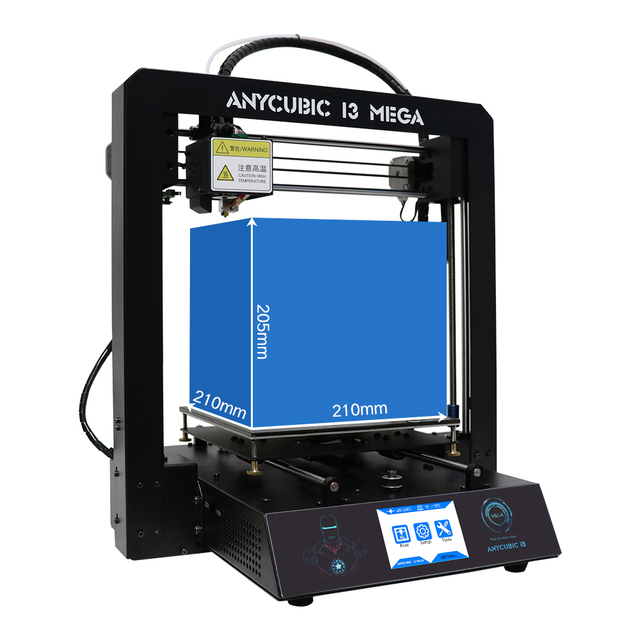 "ANYCUBIC 3D Printer I3 Mega All-metal 3.5"" TFT Screen Large Printing Size DIY Kit with Ultrabase Heat bed Newest Version"
