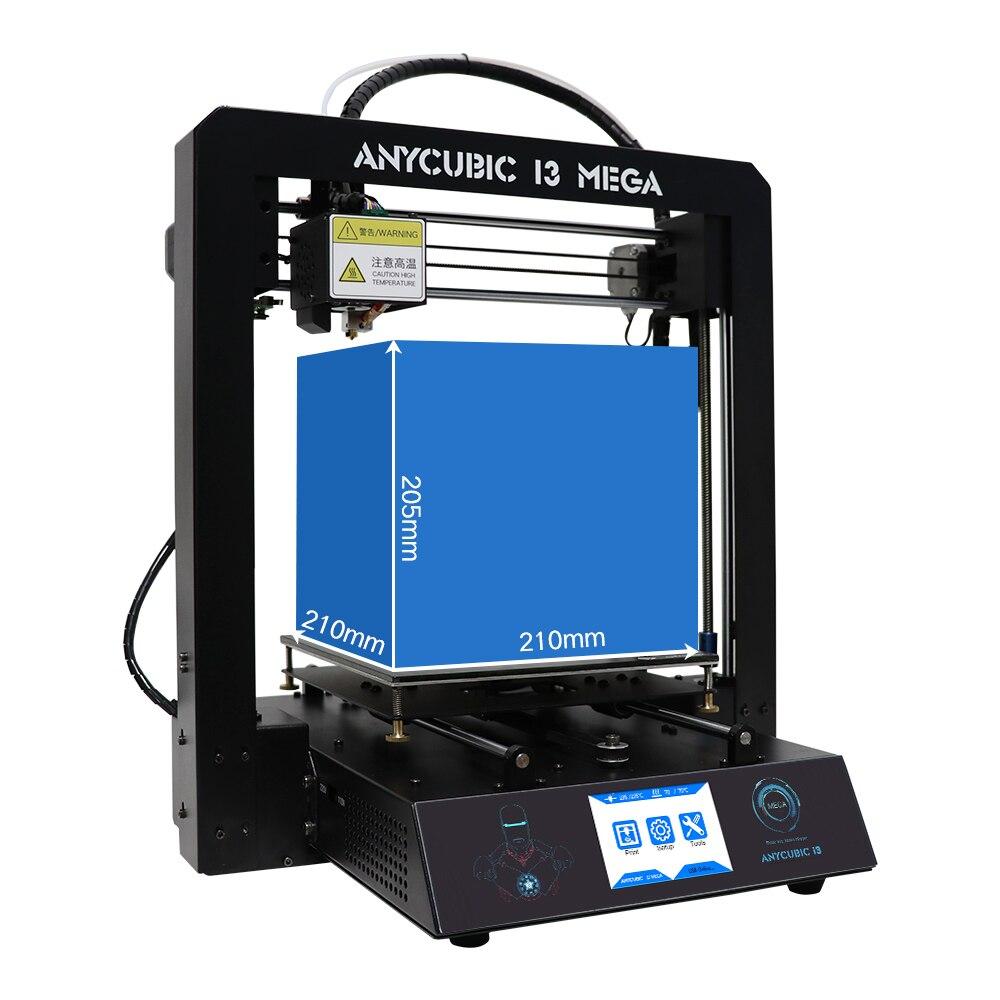 Anycubic 3D принтер impresora 3D I3 Мега полный металла высокой точности большой размер печати 3D принтер DIY Kit с 1 кг PLA нити
