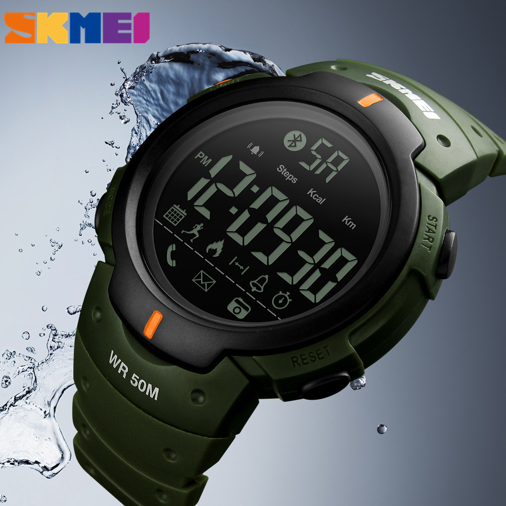 SKMEI Smart Watch for iPhone Android IOS Sports Watch Waterproof Bluetooth Smartwatch Wristwatch Clocks and Watches Men Zegarek