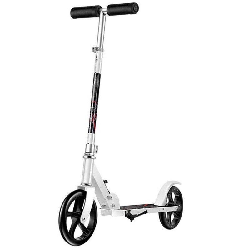 HOOMORE mode Scooter Skate Cycle Hoverboard planche à roulettes 2 roues deux hauteur réglable adulte enfants coup de pied pliable roue 200mm - 5