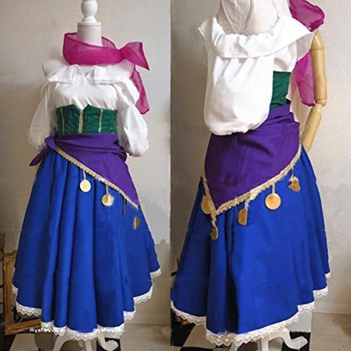The Hunchback of Notre Dame Esmeralda Dress Cosplay Costume Adult Halloween Costumes