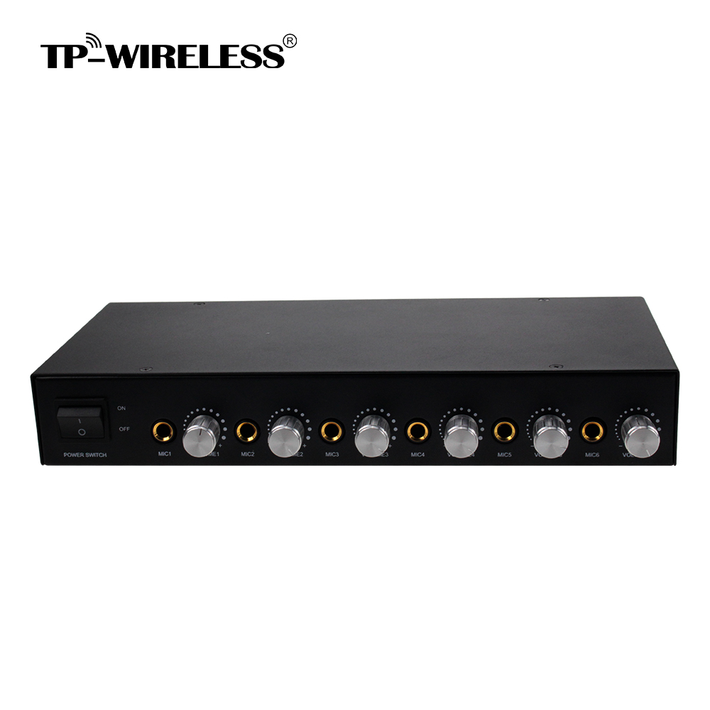 Tp Wireless 6 Channels Microphone Mixer Hub With 2 Low Cost Mic 100 Meters Balanced Xlr Output 635mm Audio In Microphones From Consumer