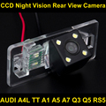 À prova d' água 4 LED Car Rear view Camera Reversa BackUp Estacionamento Camera para RS5 AUDI A4L TT A5 A7 A1 Q3 Q5 câmera reversa Do Carro 8027
