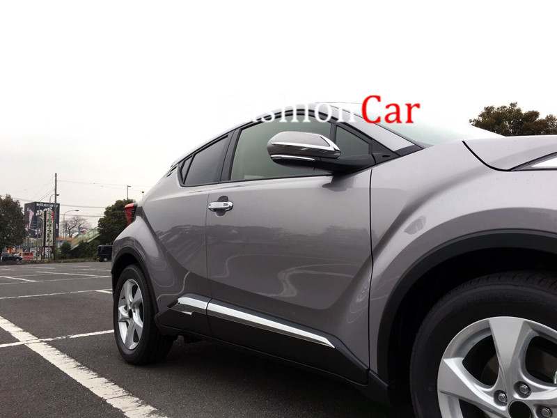 4pcs/set Chrome Door Body Molding Side Trim Cover For Toyota C-HR 2016 2017 2018 Accessories 4pcs stainless steel side door body molding cover trim for bmw x5 f15 2014 2015 car accessories