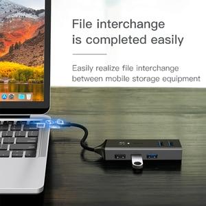 Image 4 - Baseus HUB Multi USB C vers USB 3.0 USB3. Séparateur de HUB USB type c 0 pour Macbook Pro Air, adaptateur pour HUB USB type c USB C