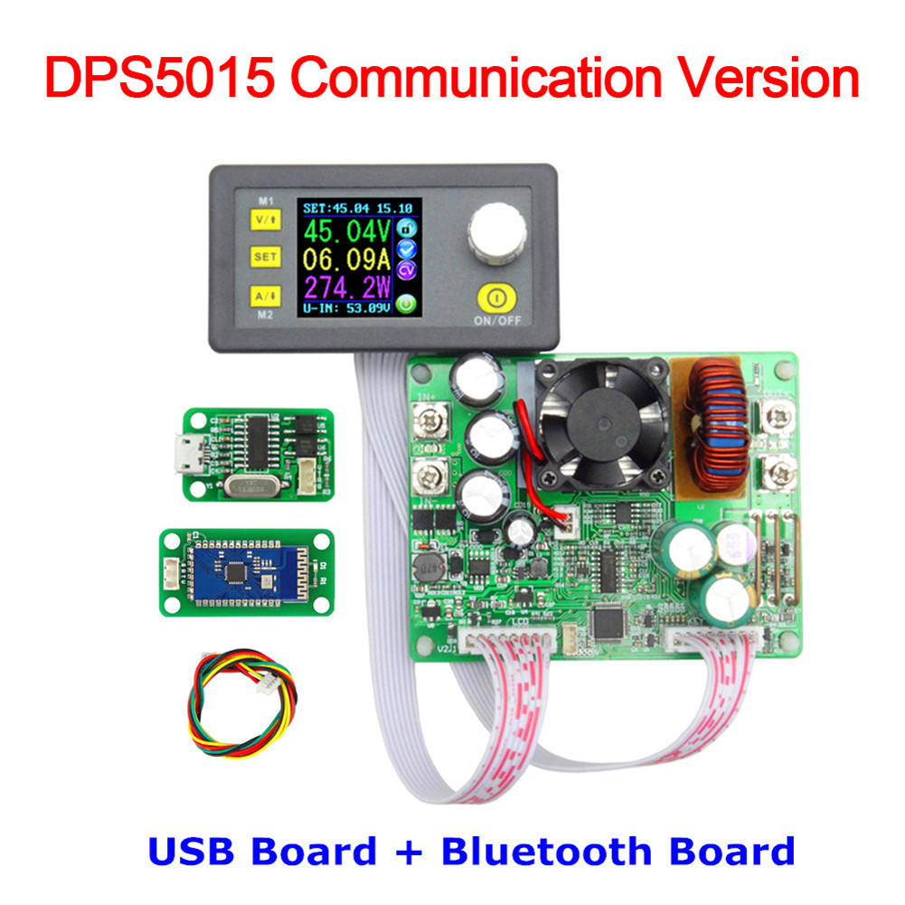 DPS5015 Communication Constant Voltage Current Step-down Power Supply Module Buck Voltage Converter LCD Voltmeter 50V 15A constant digital voltage current meter step down dp50v2a voltage regulator supply module buck color lcd display converter
