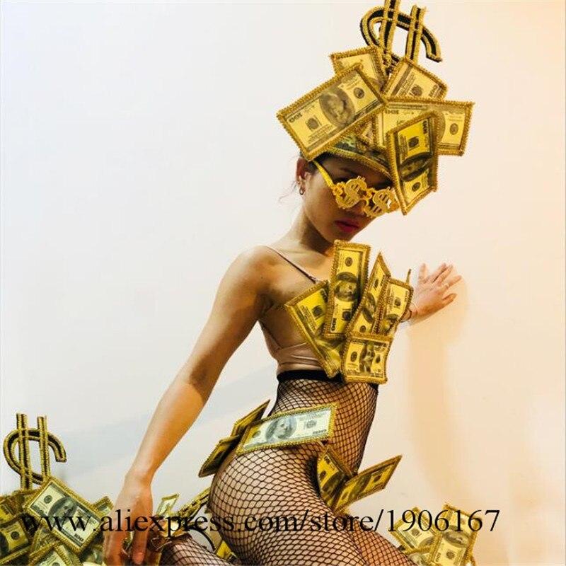 US dollar art design gogo bar ds costume sexy bikini performance clothing4