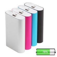 5V 2A Power Bank Fall Kit 3X 18650 Batterie Ladegerät Box für Handy metall fall ausgang über spannung schutz