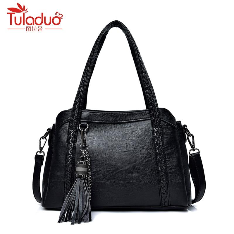 Designer Tassel Women Shoulder Bags High Quality Genuine Leather Bags Women Tote Fashion Sheepskin Leather Women Handbags 2018 high quality tassel 100