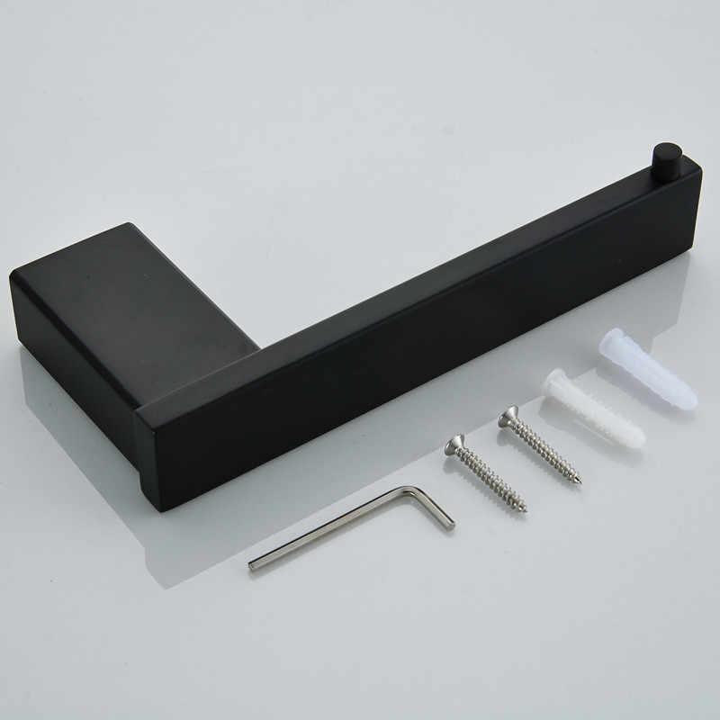 Zestaw akcesoriów łazienkowych matowe czarne wykończenie ścienny uchwyt na papier toaletowy ręcznik półka barowa uchwyt na szczoteczki sprzęt kąpielowy zestaw 10 wybór