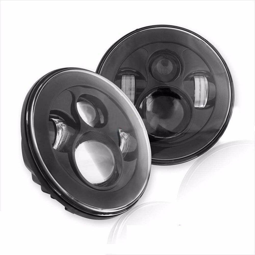 Пара 7 дюймов светодиодные фары для Wrangler JK виллиса ТДЖ ЖЖ Н13 Н4 передняя фара стайлинга автомобилей фары для Хаммер H1 Н2