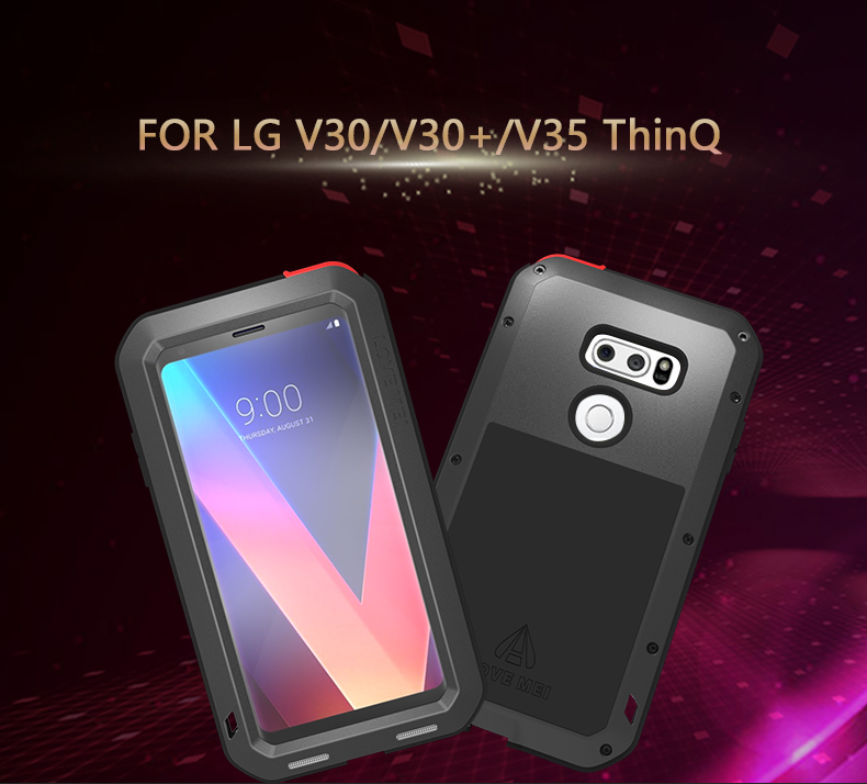 Aluminum Metal Cover For LG V30 V30 Plus V35 ThinQ V30S ThinQ Waterproof Full Body Heavy Duty Armor Case For LG V35 Plus Case in Fitted Cases from Cellphones Telecommunications