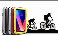 Love Mei Powerful Case for LG V30 V30+ V35 ThinQ Life Waterproof Shockproof Tough Armor Aluminum Metal Anti fingerprint Cover