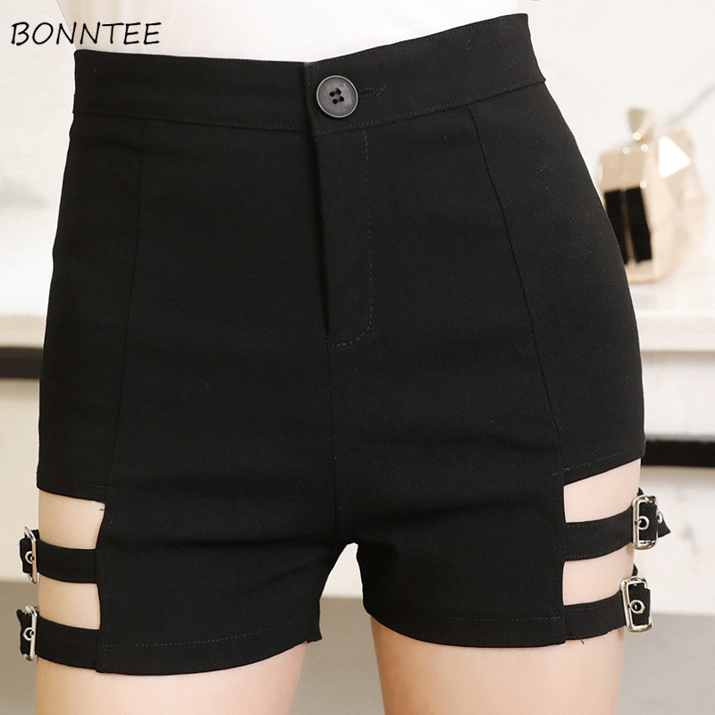Shorts Women 2019 Summer Stylish Chic Korean Style Hollow Out Womens High Quality Zipper Slim Elegant Popular Ladies Solid Daily