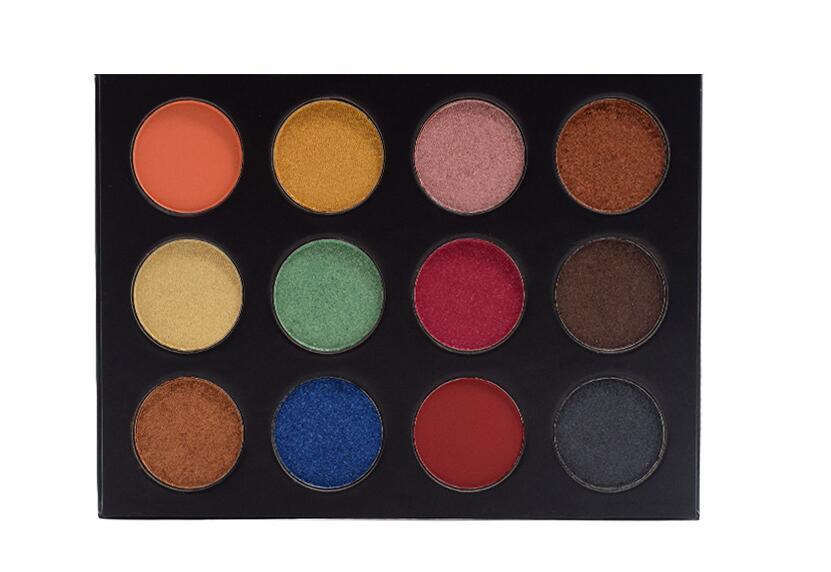 AURELIFE 12 Color Matte Love Eye for Faced  Eye Shadow for Makeup Set