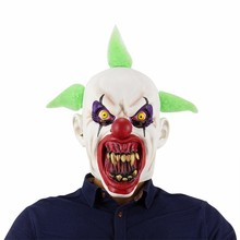 Horror Clown Mask Buck Teeth Full Face Horror Masquerade Adult Ghost Party Latex Mask Halloween Props Costumes Fancy Dress стаканов la redoute nubia единый размер синий