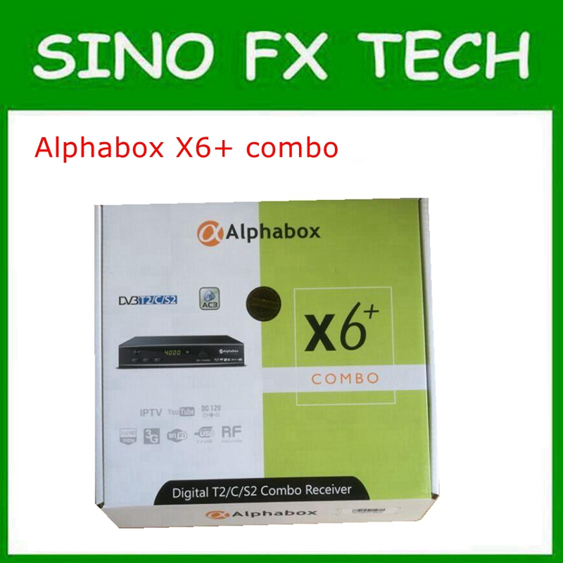 2018 Alphabox X6 + Combo powervu autoroll DVB-T2/C/S2 Combo Satellite TV Récepteur Soutien Cccam Newcamd Mgcamd Powervu Clé