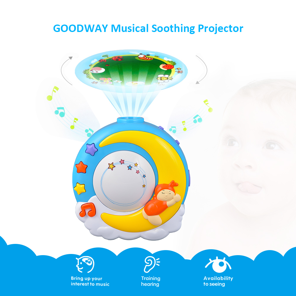 GOODWAY Musical Projection Lamp Toddlers Sleep Soother Sleep Light ...