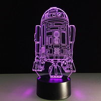 The New Star Wars battleship 3D LED desk lamp bedside Nightlight colorful touch acrylic lamps wholesale