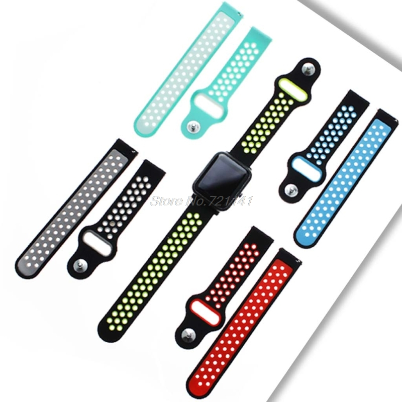 Replacement Silicon Watch Bracelet Strap Band 20mm Two-tone Round Hole For Xiaomi Amazfit Bip,TICWATCH2 Electronics Stocks