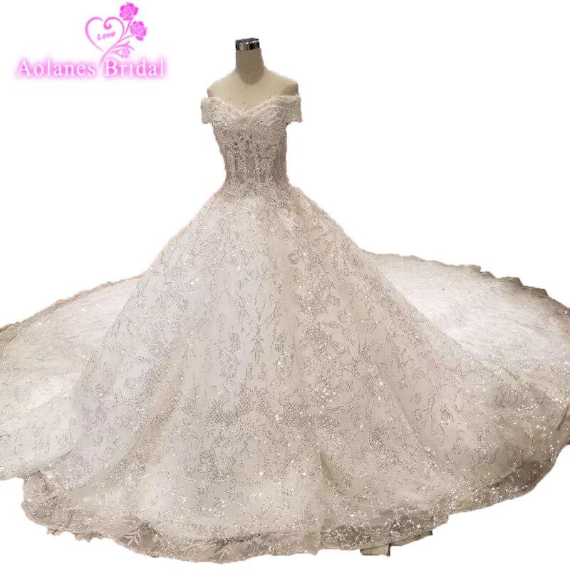 Long Sleeve Full Applique Lace Wedding Dress Sweetheart Sheer Bridal Gown 2019 Luxury Elegant Ball Gown Vintage Weding Dresses