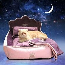 2016 high quality Luxury noble Princess Pet Bed Dog Bed Cat Mat Sofa Dog House Dog Nest Sleep Cushion Kennel New Free Shipping