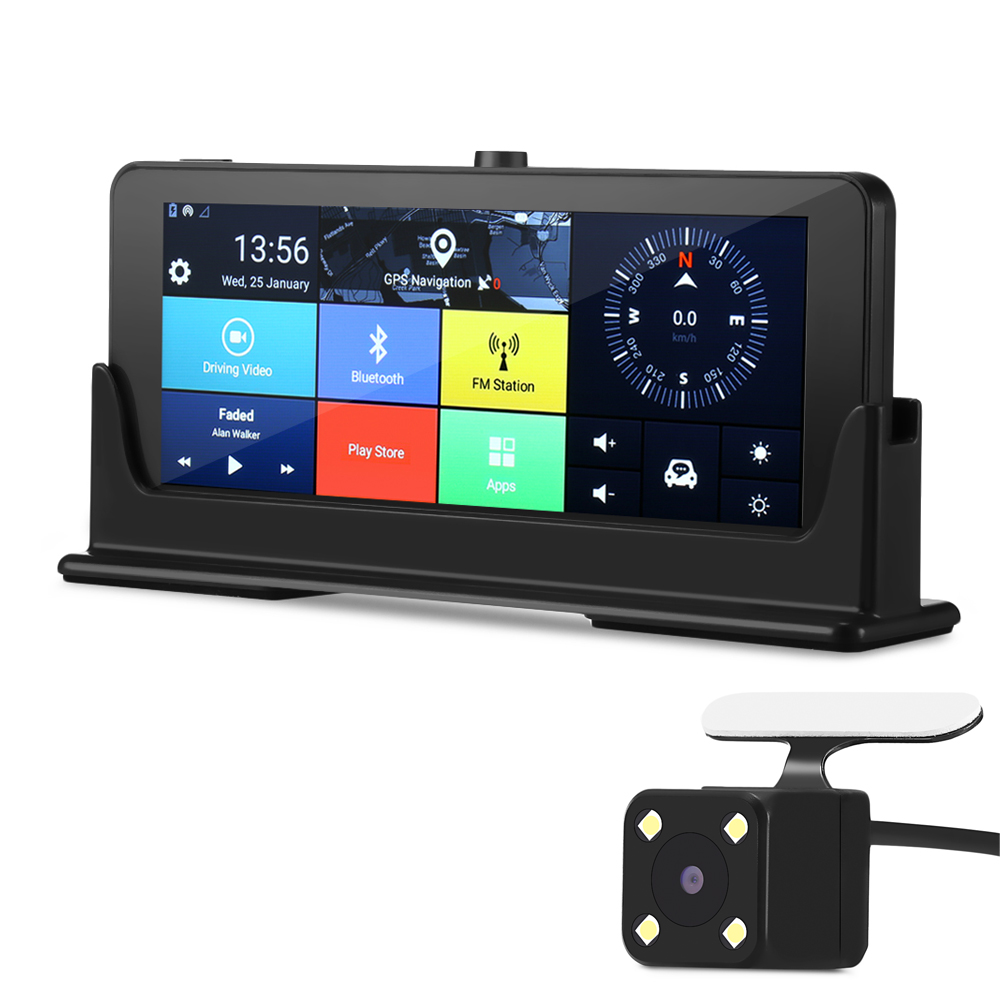 ZEEPIN 4G/3G WiFi Car DVR Dash Cam GPS Navigation 7 Inch Android Large Touch Screen HD 1080P Rearview Camera Multimedia Player цена 2017