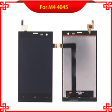 100% Tested LCD Display Touch Panel For M4 4045 Touch Screen Black Color Mobile Phone LCDs Free Shipping