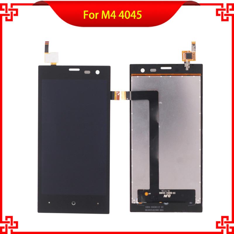 100% Tested LCD Display Touch Panel For M4  SS4045 S4045 4045 Touch Screen Black Color Mobile Phone LCDs