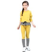 Девушки спортивный костюм 2016 осень новые Корейские девушки костюмы большие девственные девушки спортивный костюм девушки с длинными рукавами двух кусок Осень