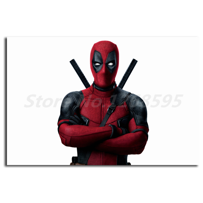 Marvel Deadpool Cross Armed Comics Wallpaper Wall Art Canvas Posters Prints Painting Wall Pictures For Living Room Home Decor image