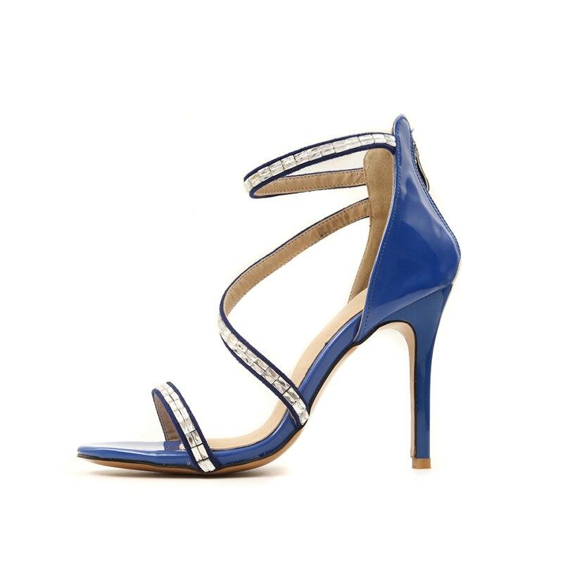 579cee4a796 azul Altos Grande Tacones Oficina Zapatos Gladiador Sexy Marca rojo Calzado Sandalia  Verano Diseño Doratasia Sandalias Talla Negro Mujer Fiesta 46 32 wH7atB