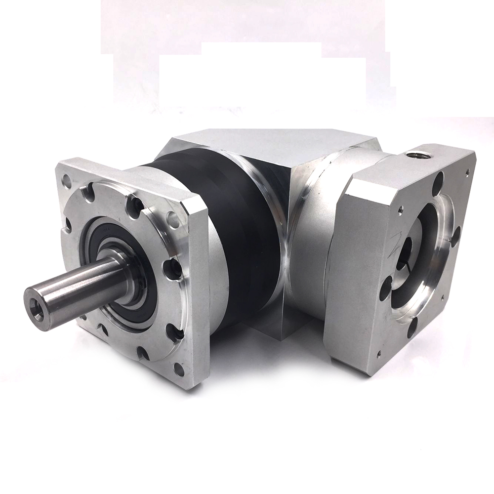 Ratio 12:1 Torque 28NM RightAngle Speed Reducer 2 Stages 60mm Planetary Gearbox Reducer Input Bore 14mm for NEMA24 Servo motor