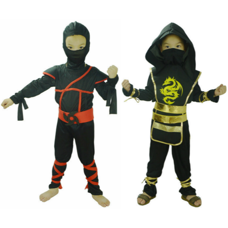 Anime Cosplay for Black Ninja Clothing Set Vestidos JapanHalloween Fancy Party Clothes Ninjago Streetwear Suit Costume Children