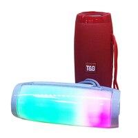 Colorful LED Lights Bluetooth Speaker HIFI Stereo Wireless Loudspeaker with Mic Support TF USB Flash FM Radio Hands Free Speaker