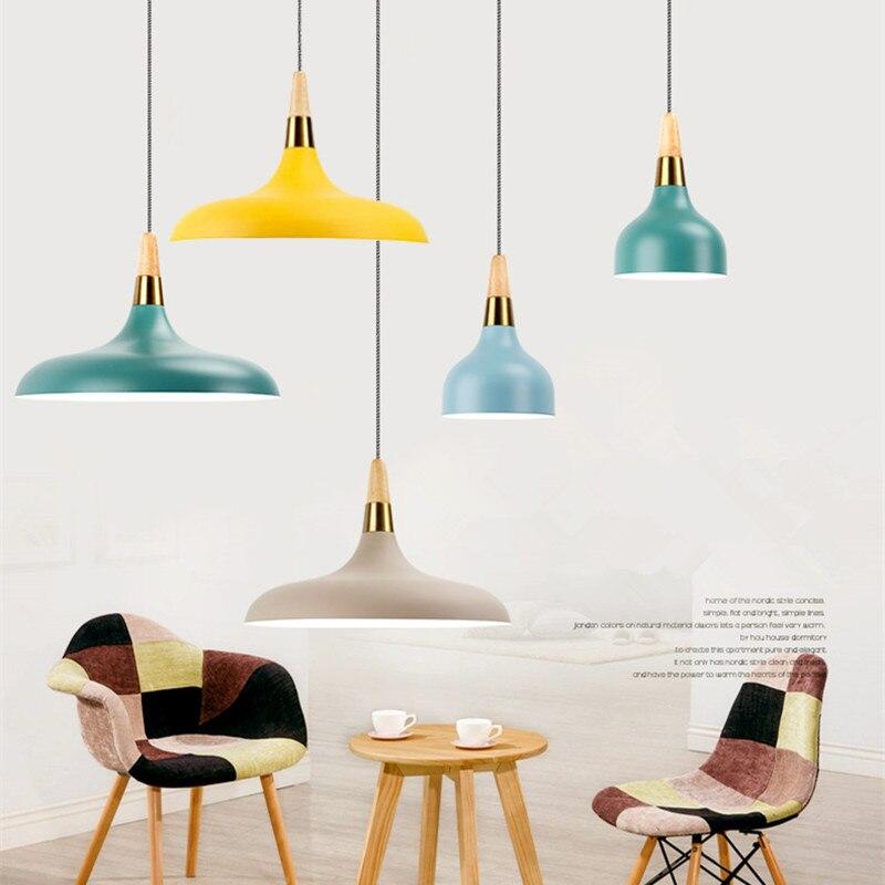 Tienda Online Madera moderna Lámparas colgantes aluminio industrial ...