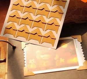 color blanco 10 hojas de pegatinas de borde para /álbum de recortes Esquinas de fotos autoadhesivas
