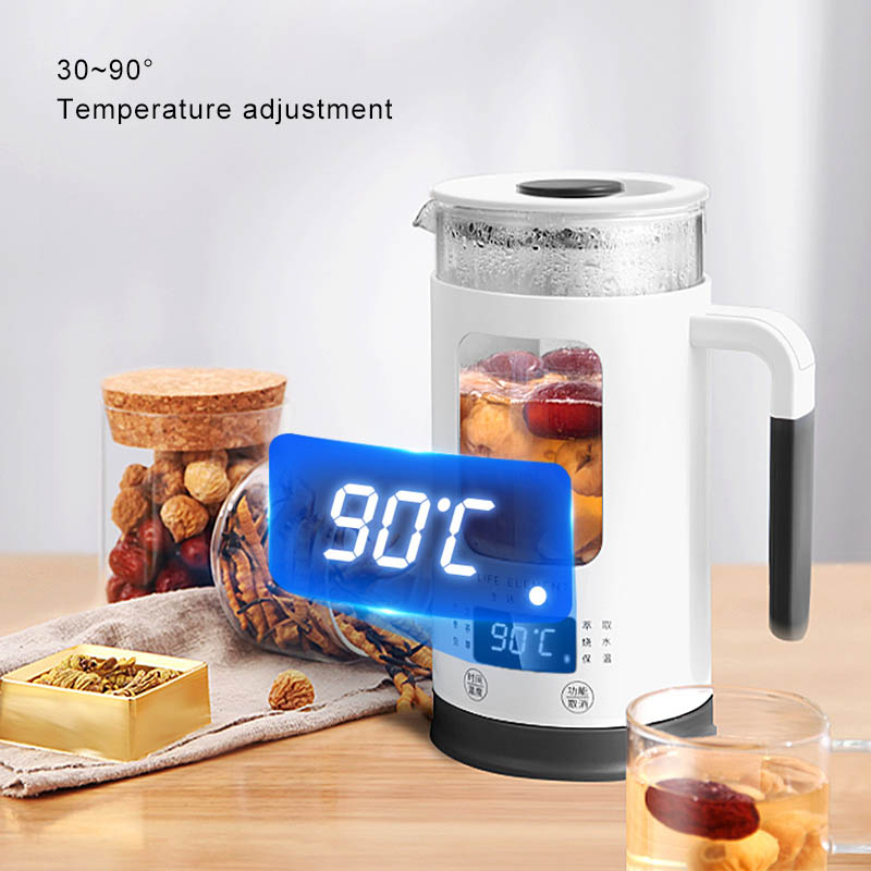 600ML Electric Kettle Health Preserving Pot Multifunctional Tea Pot Boiled Split Glass Water Bottle Adjustable Temperature 220V