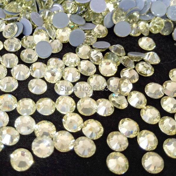 SS10 1440 pcs 1440 pcs or HotFix FlatBack verre Strass strass garniture transfert de chaleur Hot Fix cristal pierres