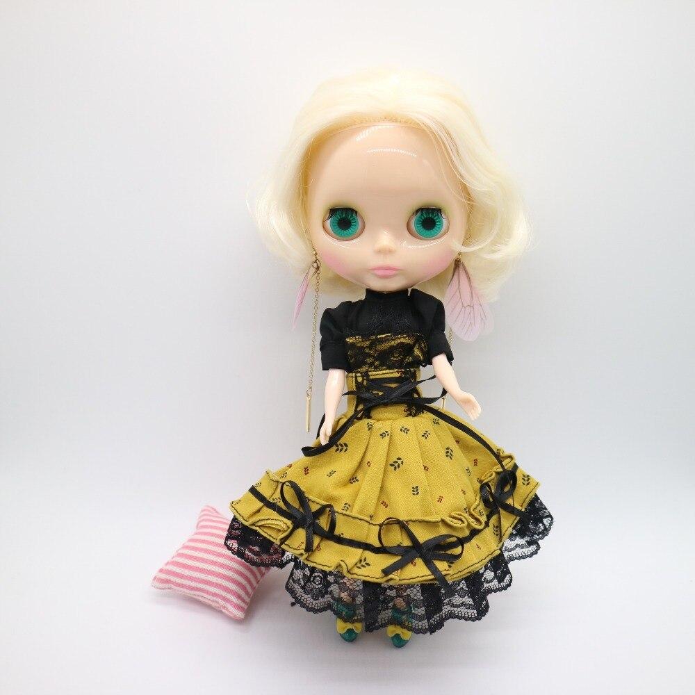 20180115 nue Blyth poupée jaune cheveux usine poupée de mode poupée adapté pour bricolage changement BJD jouet pour les filles-in Poupées from Jeux et loisirs    1