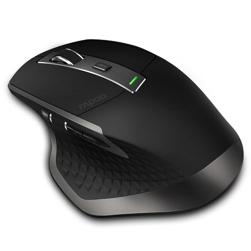 Nueva Rapoo recargable Multi-modo inalámbrico ratón entre Bluetooth 3,0/4,0 y 2,4g para cuatro dispositivos conexión