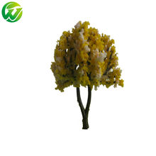 8pcs/lot 6cm model flower tree for ho N scale model train railroad scenery accessory model building modelbouw landscape(China)