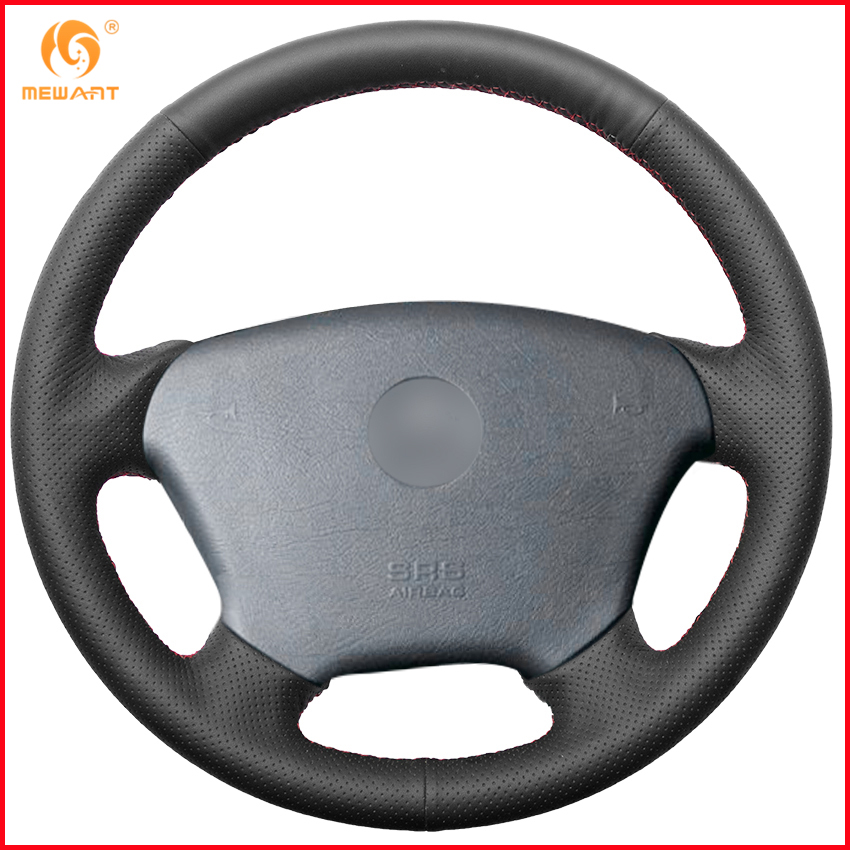 FITS MERCEDES W638 VITO 1 ITALIAN LEATHER STEERING WHEEL COVER WHITE STITCH NEW