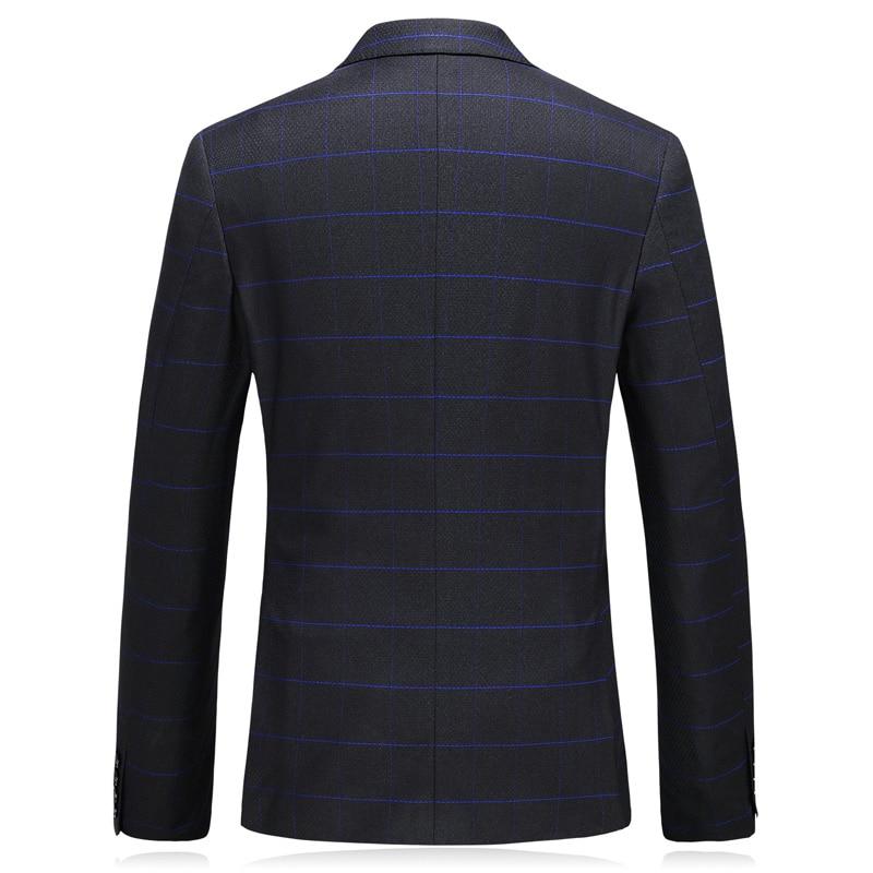 Bleue Rayure Mode Costume 2018 Complète De D'affaires Costumes Pantalon Nouveau Mariage Robe Classique Hommes Gilet veste Noir Style 6q1z4w0vx